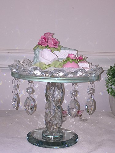 Beautiful real glass Crystal large Cake Stand, regal rich look Style Cake Stand
