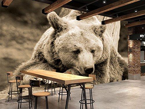 Black Bear Wallpaper (3D Black Bear Branches 72 Wall Paper Wall Print Decal Wall Deco Indoor wall Murals Removable Wall Mural | Self-adhesive Large Wallpaper , AJ WALLPAPER Carly (39