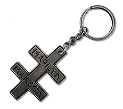 Marilyn Manson Double Cross Keyring Amazon Clothing