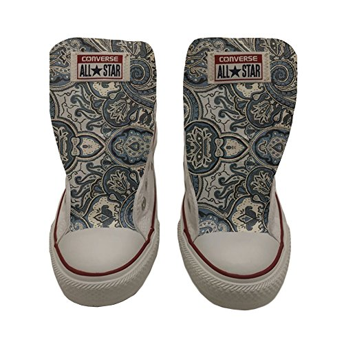 Converse All Star Slim chaussures coutume mixte adulte (produit artisanal) Blue Paisley