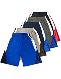 Mens Active Athletic Performance Shorts - 5 Pack