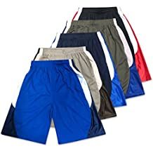 American Legend Mens Active Athletic Performance Shorts - 5 Pack