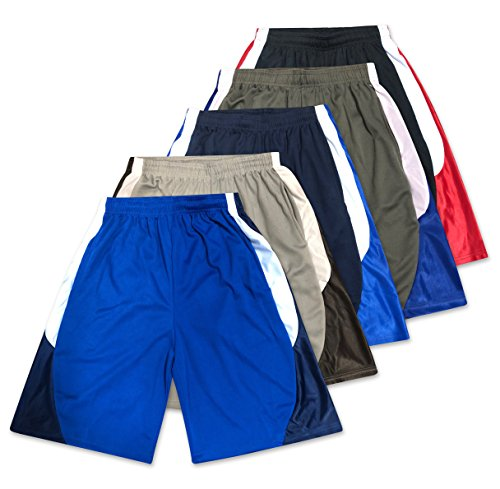 American Legend Mens Active Athletic Performance Shorts - Set 3-5 Pack, XL (Shorts Stanford Mens)