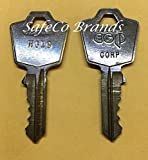 SafeCo Brands Filing Cabinet Keys for Hon - Hudson - Fire King - Turtle Code Series HG01 thru HG150 (HG04) 2-Cut Keys