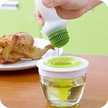 nexxa útil herramienta de cocina barbacoa botella de aceite pinceles de aceite cepillo dispensador de miel