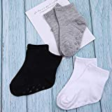 Cooraby 12 Pairs Unisex Toddler Socks Non-Skid