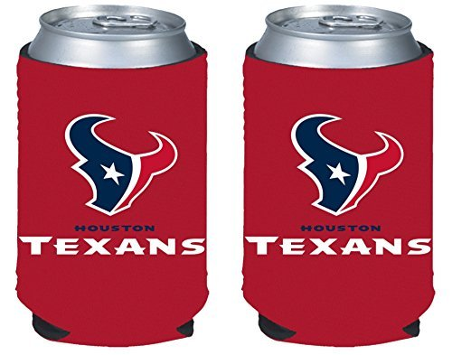 NFL Football 2014 Team Color Logo Can Kaddy Holder  Cooler 2-Pack (Houston (Houston Texans Holder)