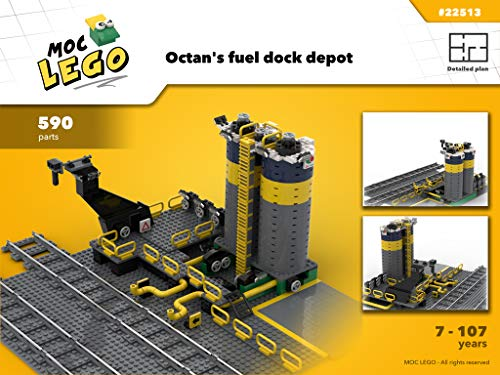 Train Octan's Fuel Dock (Instruction Only): MOC LEGO por Bryan Paquette