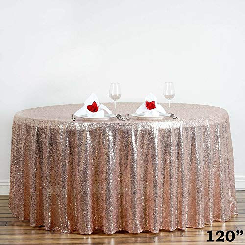 (Luxury Collection Duchess Sequin Round Tablecloths 120