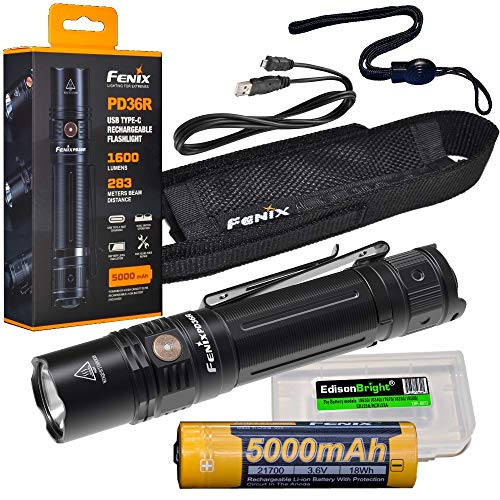 Fenix rechargeable tactical Flashlight EdisonBright product image