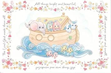 Amazon greeting card new baby precious moments all things greeting card new baby precious moments quotall things bright and beautiful the lord m4hsunfo
