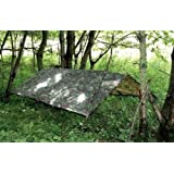HHH Hunting® Large Military Basha Army Tent tarp camouflage bivi tent Fishing camping Ground Sheet Hunting Emergency Shelter 2.5m