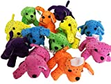 Neon Spotty Plush Dogs, Soft Plush Spotted Dogs. (24)