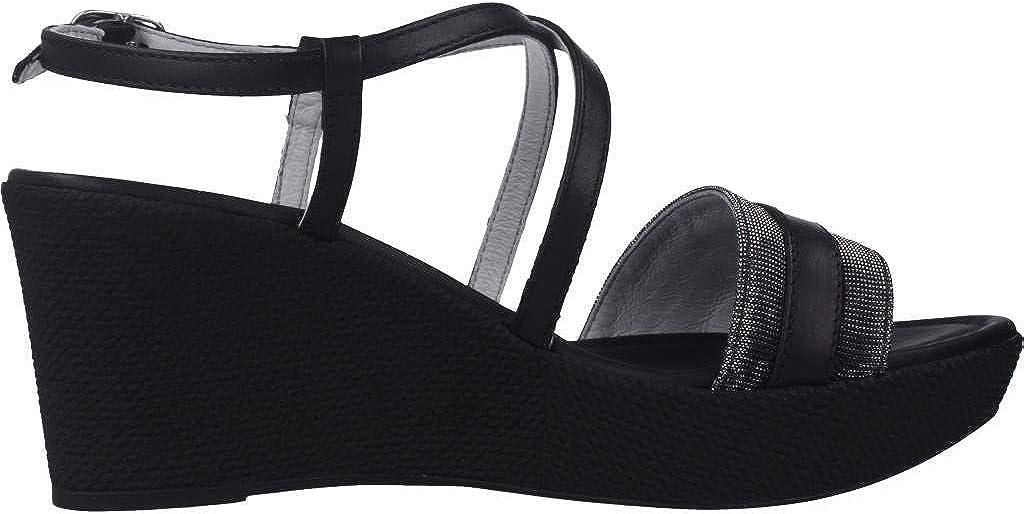 Sandalo da Donna NeroGiardini in Pelle Black o Rame E012380D. Scarpa dal Design Raffinato. Collezione Primavera Estate 2020 Nero