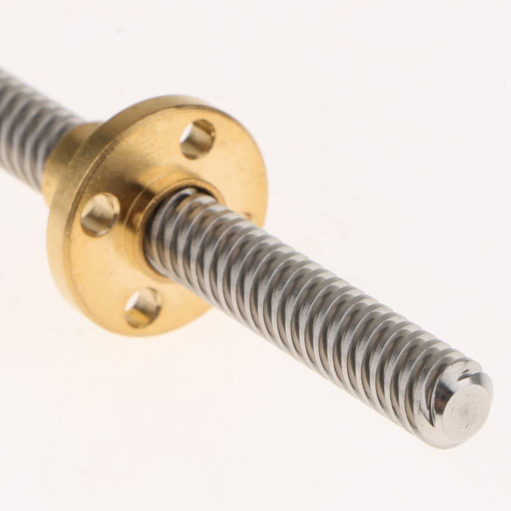 400 mm de long 8 mm de long Lot de 2 vis en plomb T8 pour imprimante 3D Vis trap/ézo/ïdale avec /écrou T8
