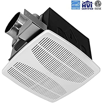 Panasonic fv 11vq5 whisperceiling 110 cfm ceiling mounted fan white built in household for Ultra quiet bathroom exhaust fan with light