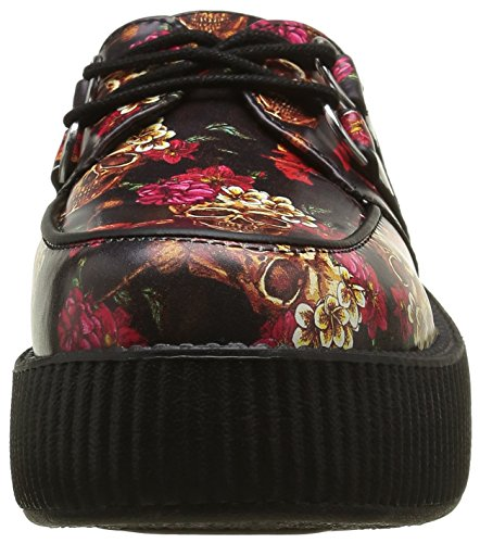 Viva U Trainers Adults' Multicolour Roses Skull K Multicolore Creeper Mondo Unisex T ZwApqA