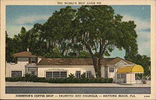 Johnston's Coffee Shop - Palmetto and Magnolia Daytona Beach, Florida Original Vintage - Beach Daytona Shops