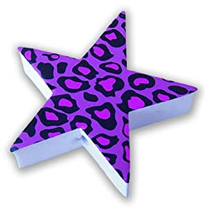 Tenna Tops® Purple Leopard Animal Print Star - Car Antenna Topper / Car Mirror Dangler (Flate Rate 2.99 Shipping - Any Size Order)