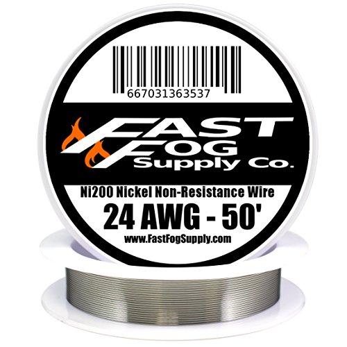 Fast Fog 50 ft - 24 Gauge AWG Non Resistance Ni200 Nickel Wi