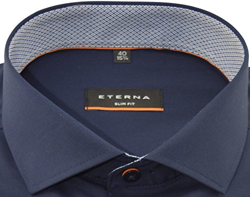 ETERNA Langarm Hemd SLIM FIT Stretch unifarben