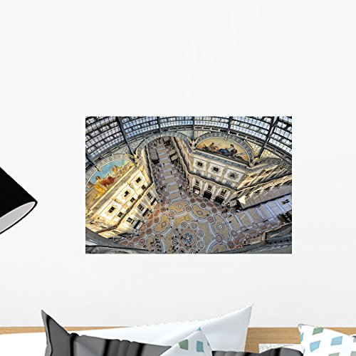Milano Galleria Vittorio Emanuele Wall Mural by Wallmonkeys Peel and Stick Graphic (18 in W x 12 in H) - Galleria Dalls