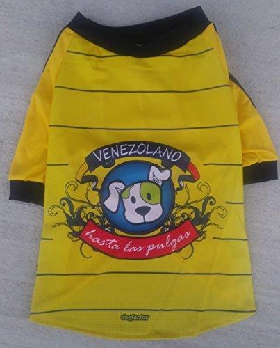 Dog Factor Venezuela DOG T-Shirt camisetas para perros Venezolano Hasta las Pulgas (S