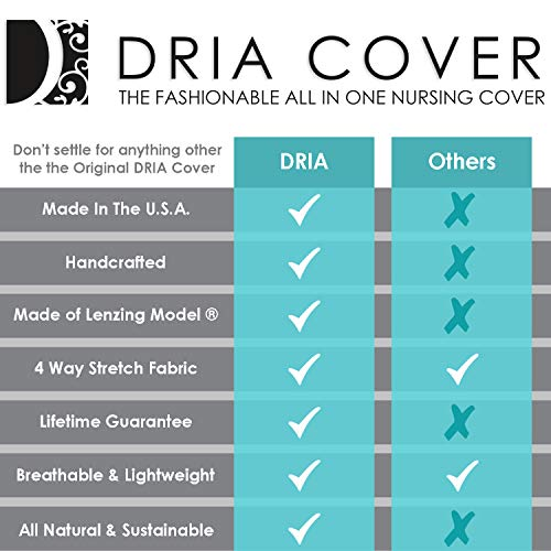 Fashionable Nursing Covers by DRIA - 'The All-In-One, Stroller Cover, Car Seat Cover' - Made in USA from Premium Four Way Stretch and Breathable Modal Fabric (Oslo Style: Grey Stripe) by DRIA Cover (Image #6)