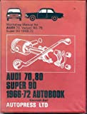 Audi 70,80 Super 90 1966-72 Autobook Workshop Manual For Audi 70,Variant 8-,75 Super 90 1966-72
