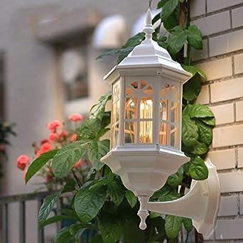 YU-K Modernos Apliques Lámparas de pared exterior para jardín patio exterior impermeable valla luz,ninguna fuente óptica: Amazon.es: Iluminación