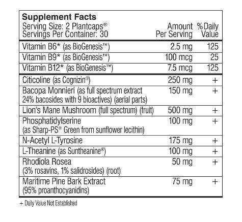 Mind Lab Pro Universal Nootropic Dietary Supplement 60 Capsules Supports Studying, Learning, Attention, Gluten Free Allergen Free Caffeine Free No Preservatives Citicoline Phosphatidylserine