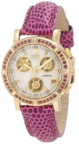 Invicta Women's 10314 Wildflower Chronograph Mother-Of-Pearl Dial Watch (Wildflowers Knob)