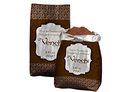 Venchi Italian Chocolate - Venchi Cocoa Powder for Hot Chocolate in Pouch (8.8 ounces)