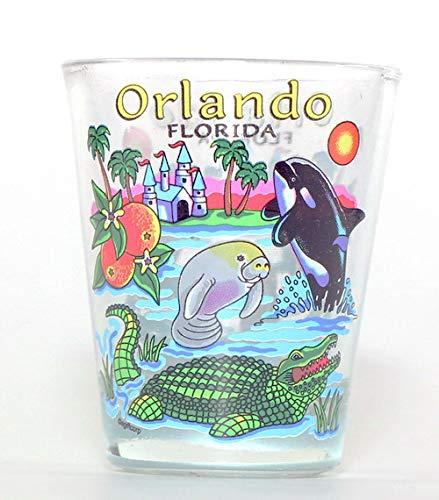 Orlando Florida Icons Shot Glass