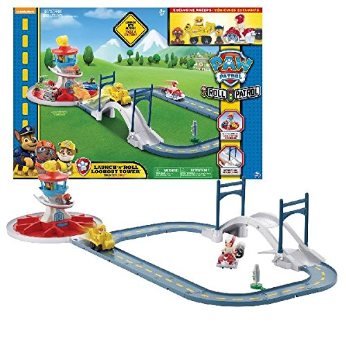 """Paw Patrol 6028063 """"Launch 'n Roll Lookout Tower"""" Rennstrecke-Spielset Spin Master"""