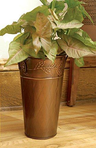 12 rustic copper vase - copper home decor