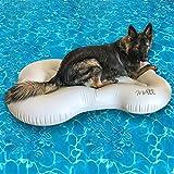 Midlee Dog Raft Pool Float Inflatable Bone Shape