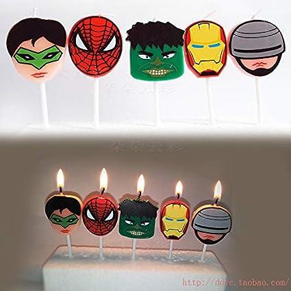 Amazon Astra Gourmet Cartoon Superhero Birthday Candles Kids