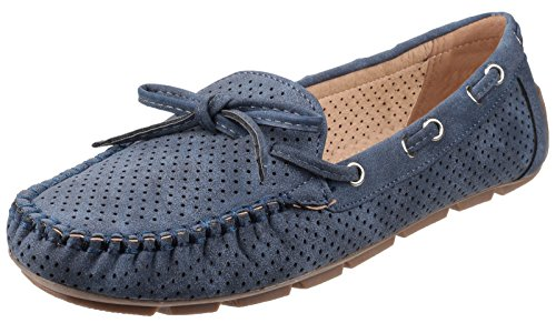 Fleet And Foster Womens/Ladies Venus Slip On Summer Shoes azul marino