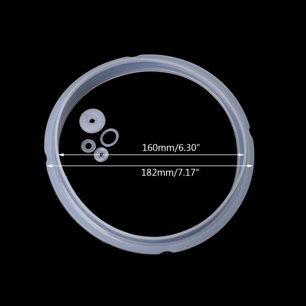 BUIDI Juntas de Goma de Silicona Anillo de Sellado para Piezas de Olla a presi/ón el/éctrica Piezas de Placa de Cocina de 2-2.8L Blanco