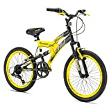20'' Boys Avigo Air Flex Dual Suspension - Yellow Black - Balance Bike - Ride-ons - Outdoor Sports - Air Flex Dual Suspension - Long-lasting Quality and Saving Value - Built with the Latest Bicycle Safety Features