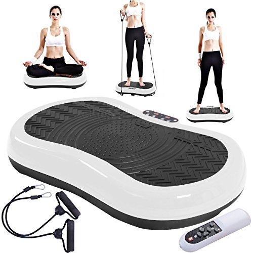 Tangkula Ultrathin Mini Crazy Fit Vibration Platform Massage Machine Fitness Gym (White) by Tangkula (Image #2)