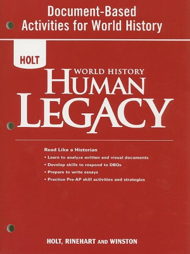 World History: Human Legacy: Document-Based Activities