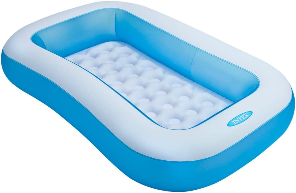 Intex 57403NP - Piscina hinchable rectangular 166 x 100 x 28 cm, 90 litros