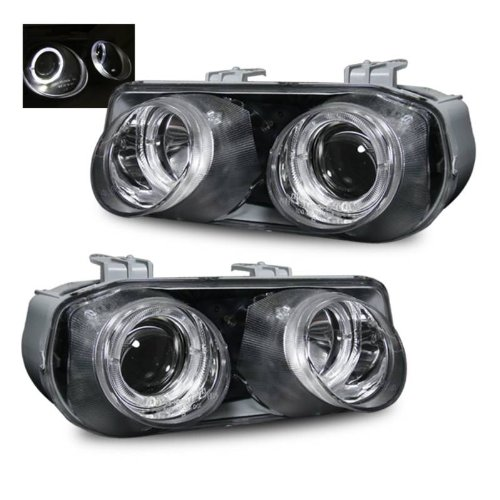 SPPC Projector Headlights Halo Chrome For Acura Integra - (Pair) - Acura Integra Halo Projector Headlights