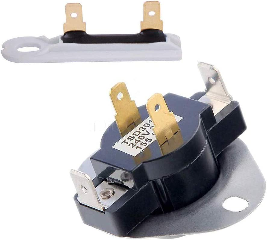 3387134 & 3392519 - Cycling Thermostat & Thermal Fuse Replacement For Whirlpool & Kenmore Dryer. Replaces, 3387134, 3387135, 3387139, 306910, WP3387134VP & 3392519, 3388651, 694511, 80005