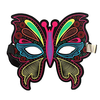 Forart Sound Reactive Soft LED Mask Voice Control DJ Mask for Festival Party Halloween Costumes Carnivals Dance Ball Masquerades Cosplay: Toys & Games