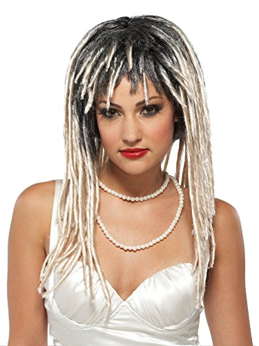 UHC Gothic Demure Dreads Vampires Wig w/ Bangs Halloween Costume Accessory (Halloween Dreads)