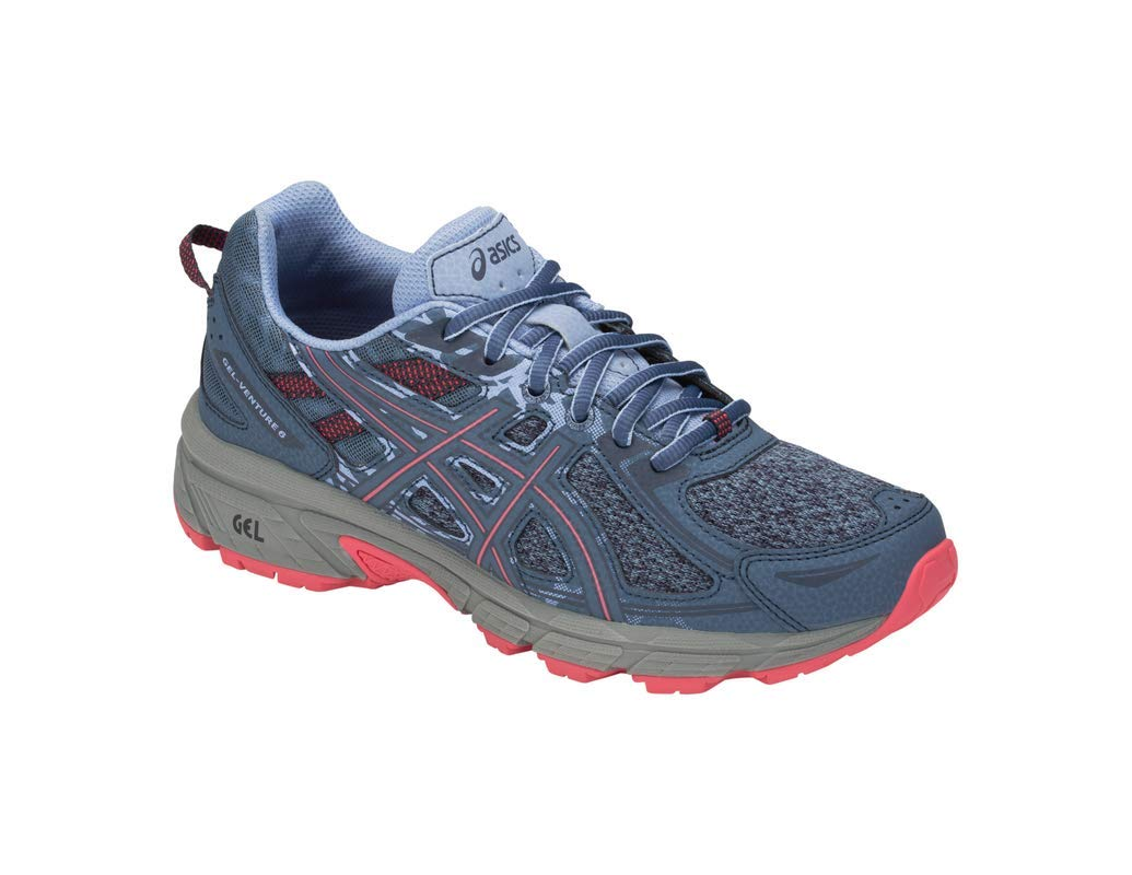 ASICS Gel-Venture 6 MX Women's Running Shoe, Steel Blue/Pink Cameo, 5 M US by ASICS (Image #1)