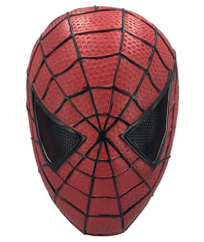 Amazing Spiderman 2 Costume (Superhero Spiderman Mask, Spider-Man: Into The Spider-Verse Cosplay Costume Decoration for Adult and Teens, Latex Material)